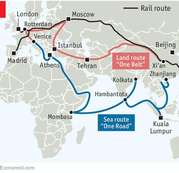 Inicjatywa Pasa i Szlaku mapa