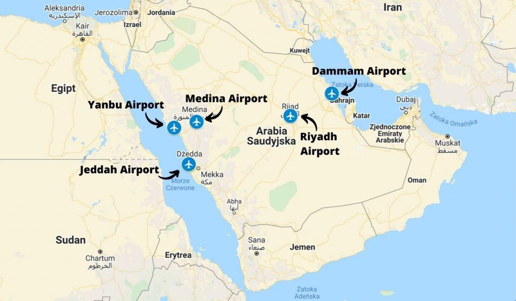 Porty lotnicze w Arabii Saudyjskiej