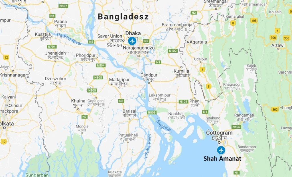 Transport z Bangladeszu - terminale