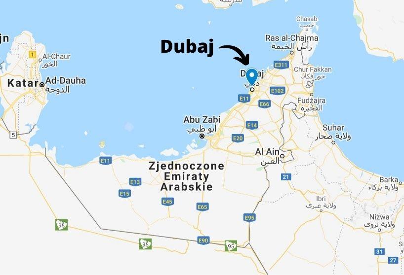 Położenie Dubaju