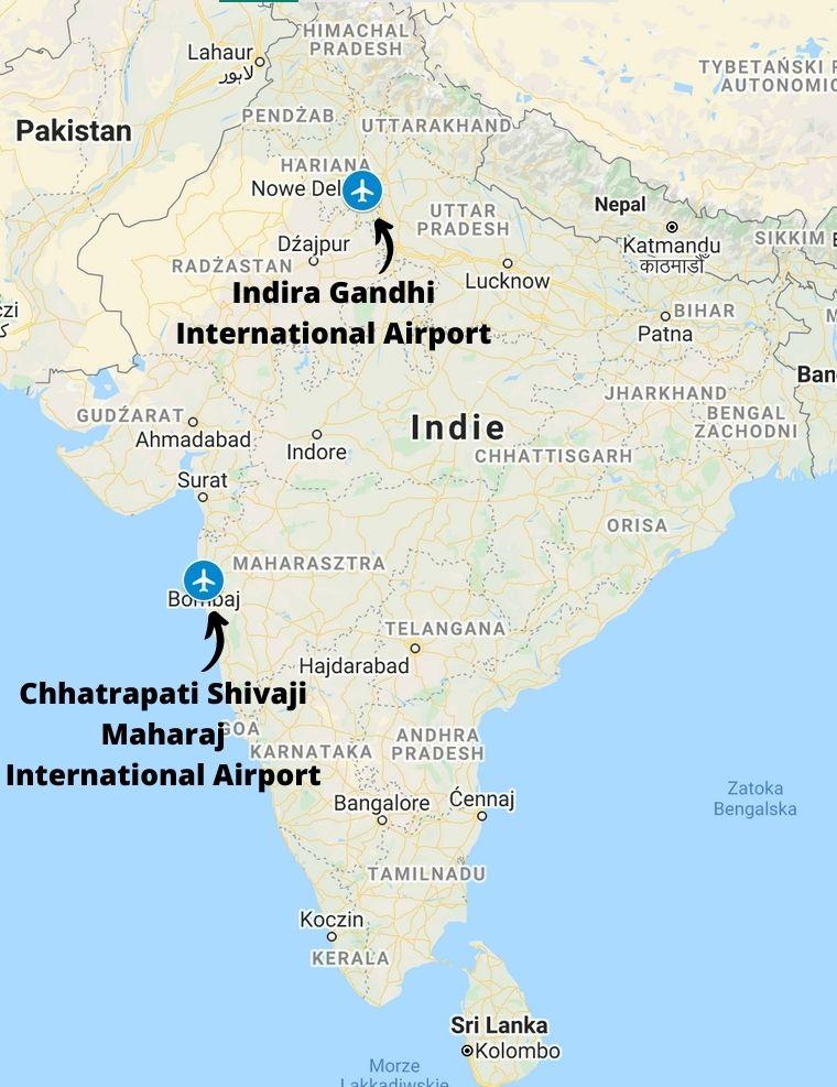 Porty lotnicze w Indiach