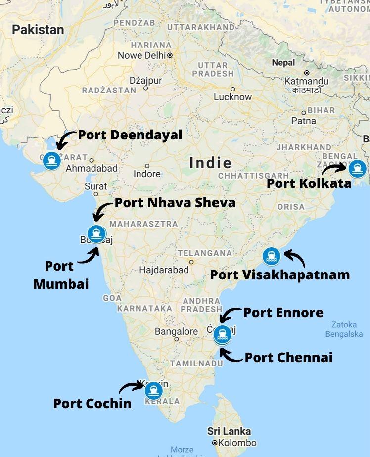 Porty morskie w Indiach