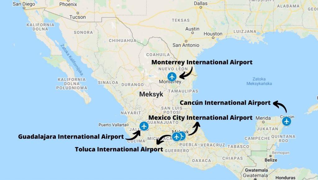 Porty lotnicze cargo w Meksyku
