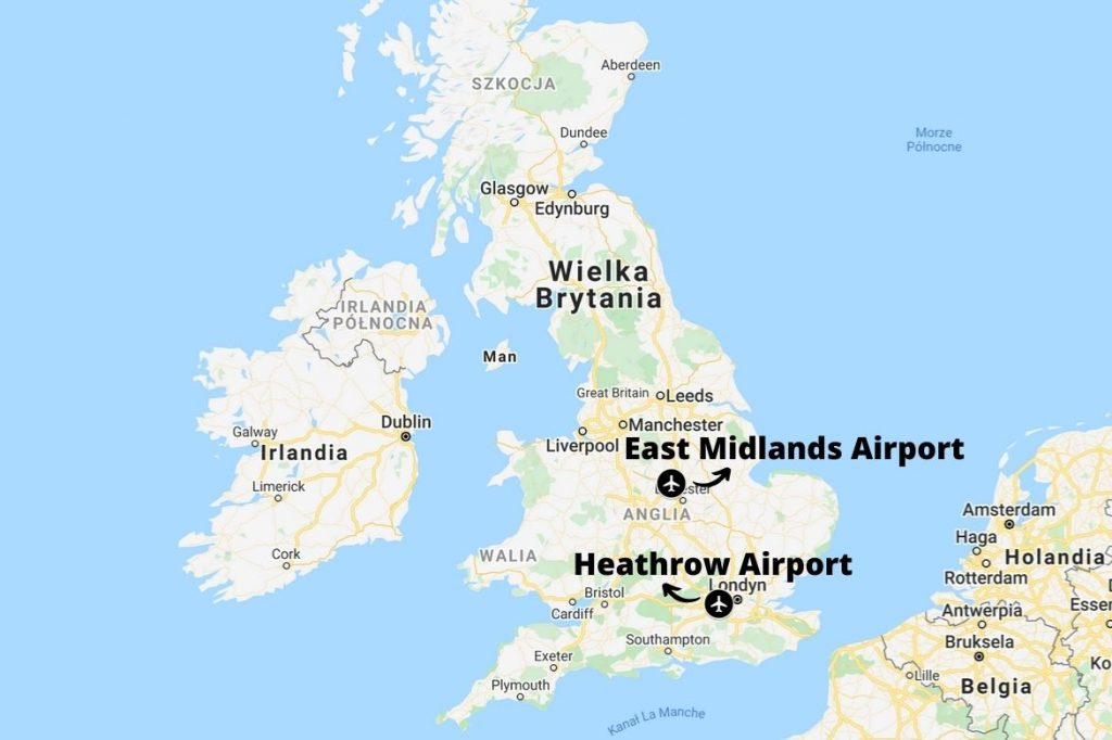 Transport z Wielkiej Brytanii - fracht lotniczy