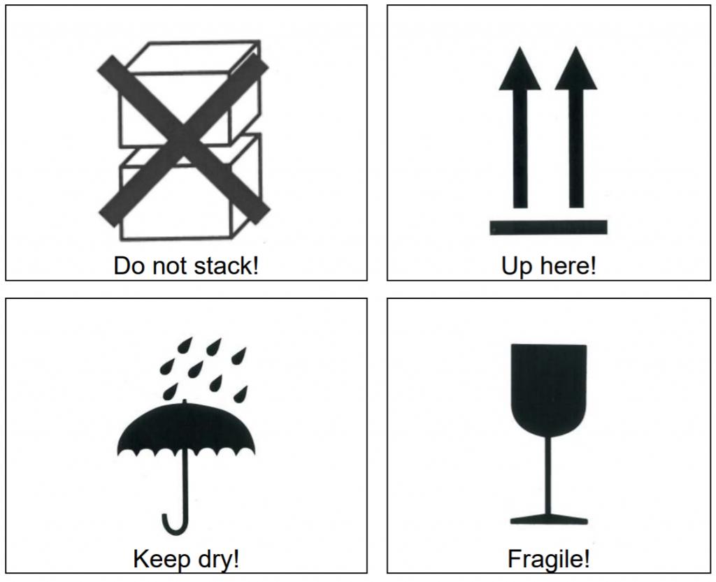 Oznaczenia przy transporcie paneli fotowoltaiczych