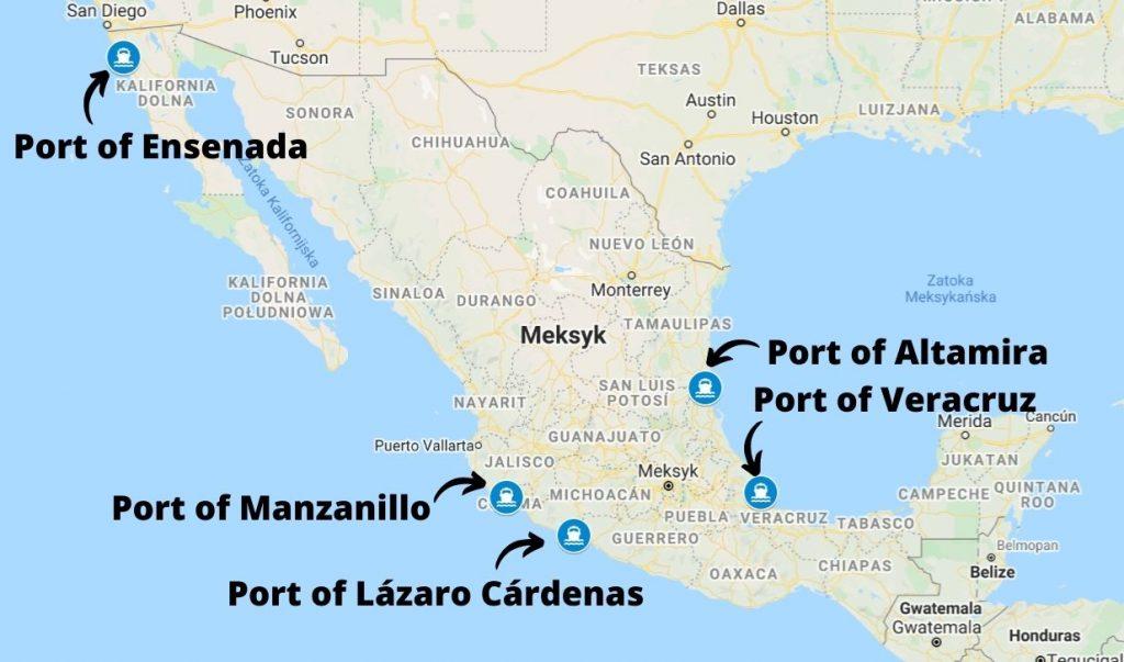 Porty morskie w Meksyku