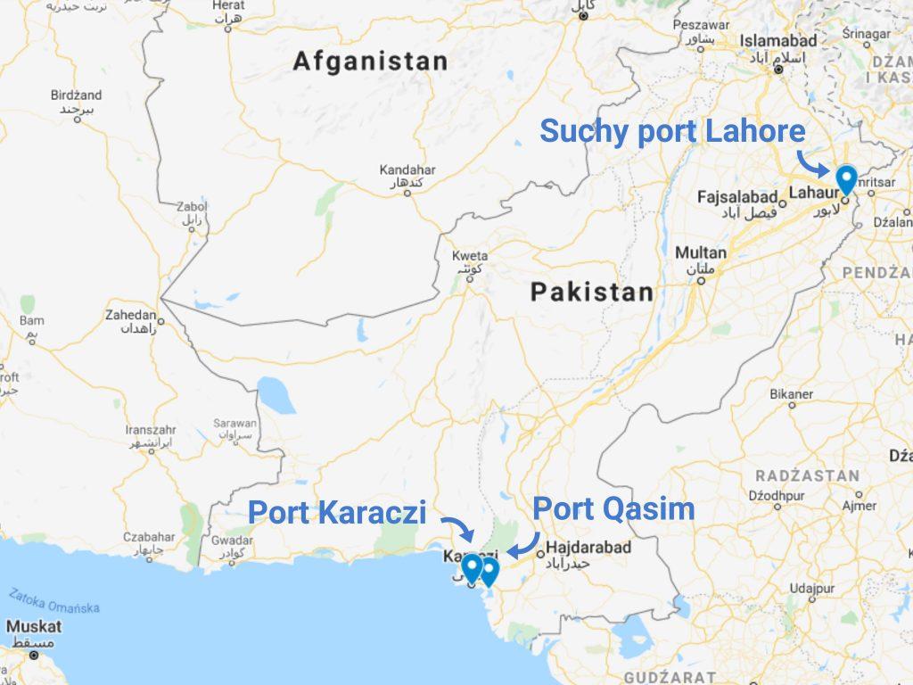 Transport z Pakistanu - porty