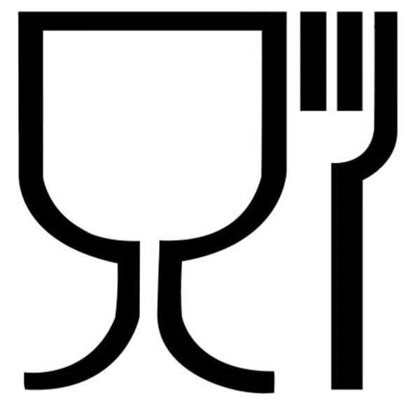 Symbol kieliszka i widelca