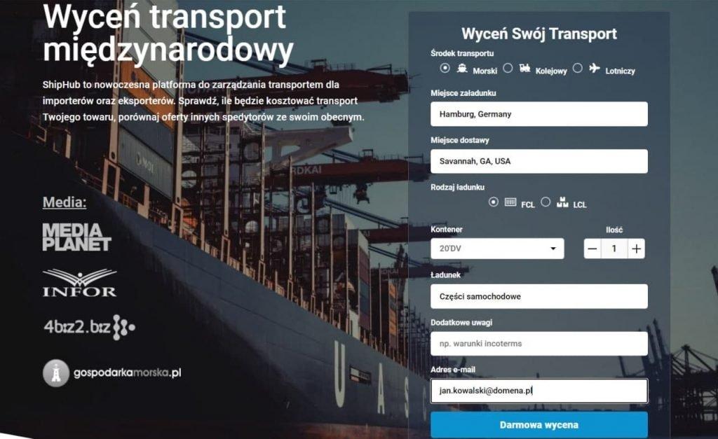 Transport- formularz