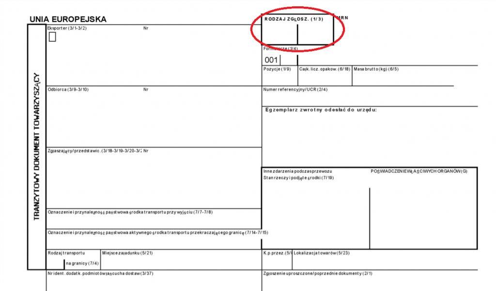 Dokument towarzyszący T1